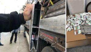 Алюмінієві борти, знешумлені тютюном: у Краківці виявили креативну схованку