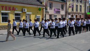 Зведений військовий оркестр Нацгвардії особливо приймали в Золочеві