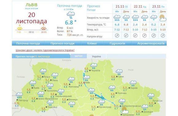 Завтра вКиєві очікуються пориви вітру 15-18 м/с